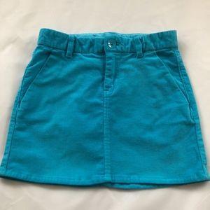 Gap Kids Neon Corduroy Blue Caribbean Mini Skirt